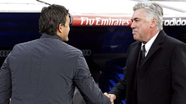Carlo Ancelotti y Luis Enrique velan armas antes del Clásico
