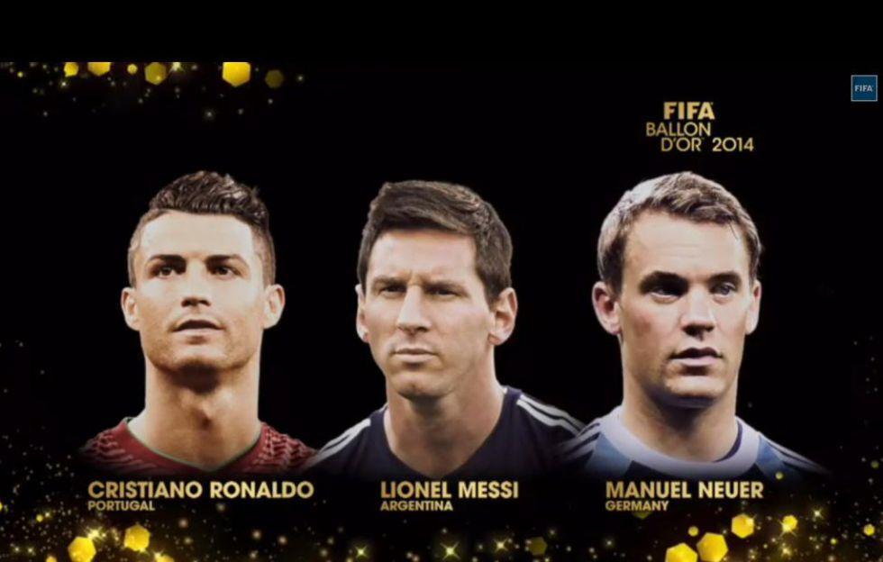 Finalistas del Balón de Oro de 2014: Cristiano, Messi y Neuer | Internacional | AS.com