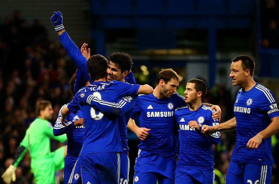 Los goles de Oscar y Diego Costa colocan líder al Chelsea | Internacional | AS.com